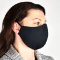 Maska na twarz 2-warstwowa wielorazowa czarna