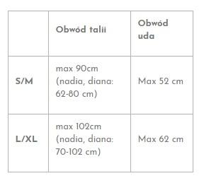 Tabela rozmiarów Promees Harness